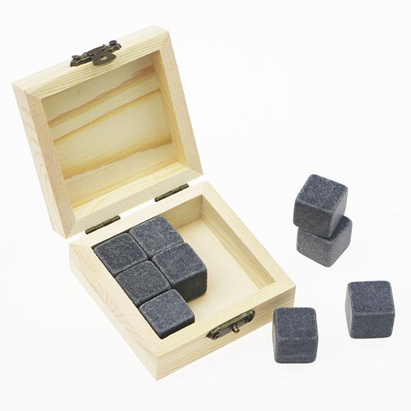Cheap price Slate Coaster Set - popular Product Bar Tools Gift Item New Whiskey Rock Stone Cube Whisky Chilling Ice Cube Ice Stone Creative Gift Set – Shunstone