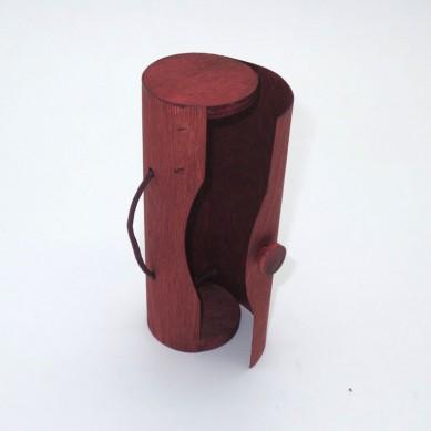 SHUNSTONE Customized Size slide lid wooden wine box for 1 bottle