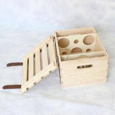 SHUNSTONE Wooden Wine Gift Box For 6 Bottles