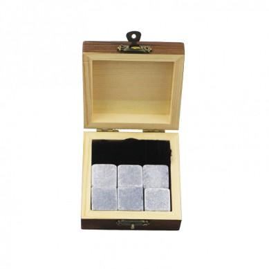 2019 vendidos 6 piezas de Mongolia Negro whisky piedra de hielo del whisky de regalo Piedras enfriador de bebidas Cubos Natural Chilling piedras del whisky con caja de regalo