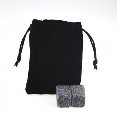 New Arrivals 2019 Natural Chilling Stones set with Black Velvet bag