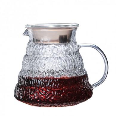 wooden brackets glass coffee dripper pot set Japanese V60 glass coffee filter reusable pour over