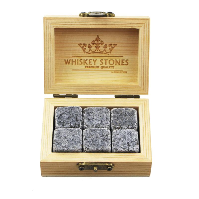 2019 Amazon Best Product Bar Tools Gift Item New 6 pcs of G654 Whiskey Rock Stone Cube Whisky Chilling Ice Cube Ice Stone Creative Gift Set Featured Image