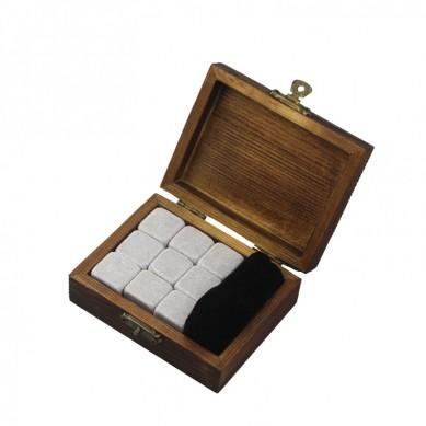 9 PCan de Cinderella Uisge Beatha Clachan Souvenir Chilling Uisge Beatha Stones Bar Accessories Uisge Beatha Clachan Velvet Bag