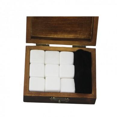 2019 Pearl White Whiskey Stone Rock Ice Cube Custom Promotional Gift Set High-end Whiskey Stones Ice Gift Set