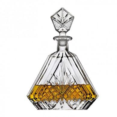 Whiskey Decanter for Liquor Scotch Bourbon or Wine, Irish cut Triangular – 750ml