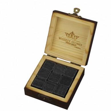 9 pièces de jeu en pierre Whisky luxe Coffret Cadeau whisky cubes de glace réutilisables sur mesure magnétique Boîte de dés de glace de refroidissement Cubes pierres à whiskey