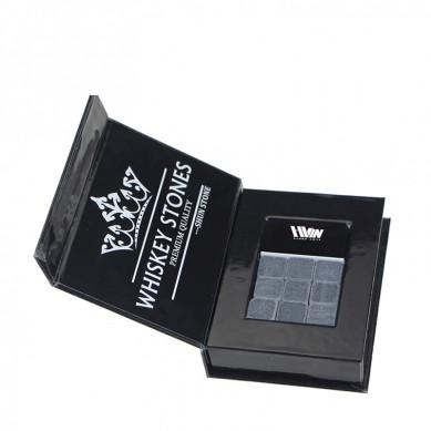 Excellent quality Whiskey Stones Gift Set - Set of 9 Grey Beverage Chilling Stones [Chill Rocks] Whiskey Stones for Whiskey and other Beverages – in Gift Box – Shunstone