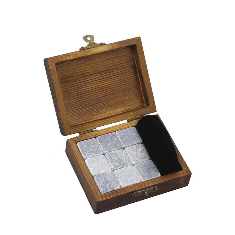 Top Quality Marble Coasters - 2019 Premium Corporate Gift Set soapstone Whiskey Stone Rock Ice Cube Custom Promotional Gift Set High-end Whiskey Stones Ice Gift Set  – Shunstone