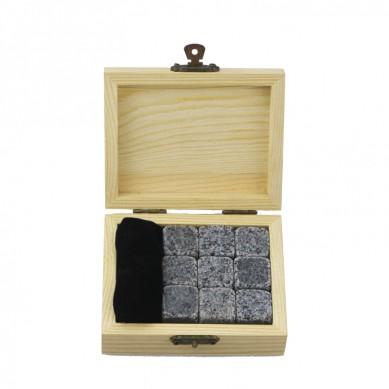 9 pcs of Premium 654 Whiskey Stones SET – amazon hot sell wine chiller rod stick wine cooler