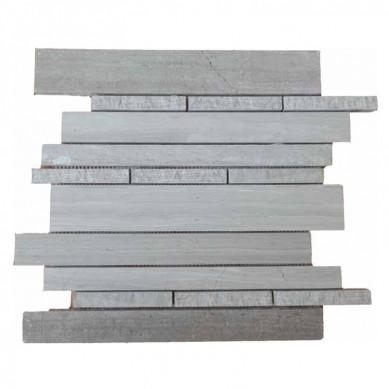 Decorstone24 Wood Grain Marble Trapezoid Mosaic For Kitchen Wall Tiles