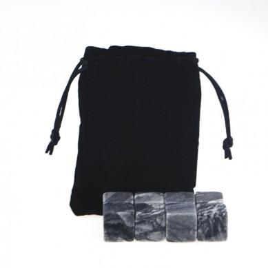 High quality whsiky set  Whiskey Stones with Black Velvet bag