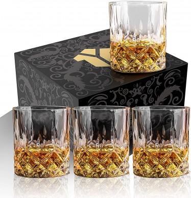wholesale whiskey glasses old fashion wine glasses gift set by elegant gift box