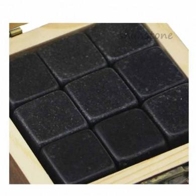 2019 Amazon Best Product Bar Tools Gift Item 9 pcs of New Whiskey Rock Stone Cube Whisky Chilling Ice Cube Ice Stone Creative Gift Set