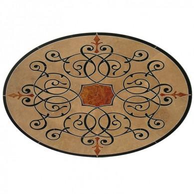 Manufacturer marble medalion pattern flooring tile waterjet marble tile lobby tile marble