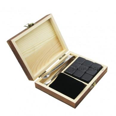 OEM/ODM China Whiskey Stone Wooden Box - Wholesale Business Gift 9 pcs of Whiskey Stones Whiskey Chilling Rock Business Promotional Gift Professional novelty whiskey stones  – Shunstone