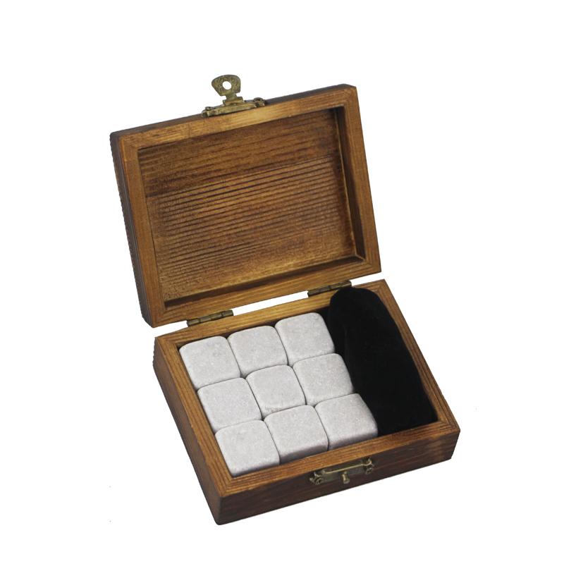Popular Design for Metal Whiskey Stones - 9 pcs of Cinderella Whisky Stones Souvenir Chilling Whiskey Stones Bar Accessories  Whiskey Stones Velvet Bag  – Shunstone