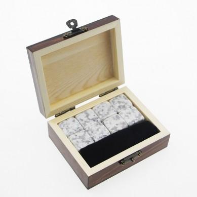 Premium 8pcs of Whiskey Natural Soapstone Ice Cube Whiskey Stone Bar Accessories Customized LOGO