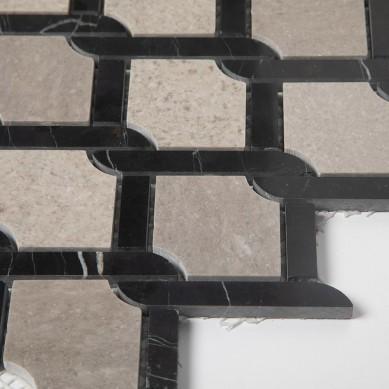 Bathroom Floor Cinderella Grey Marble Mosaic Tile On Mesh