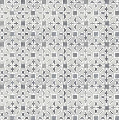 Carrara-Grey-and-Thassos-White-Flower-Design