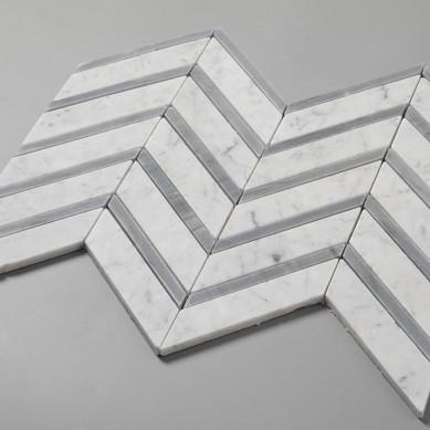 Carrara-White-Mixed-Carrara-Grey-Color-Chevron (2)