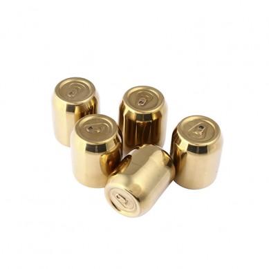 Custom package reusable whiskey stones gold