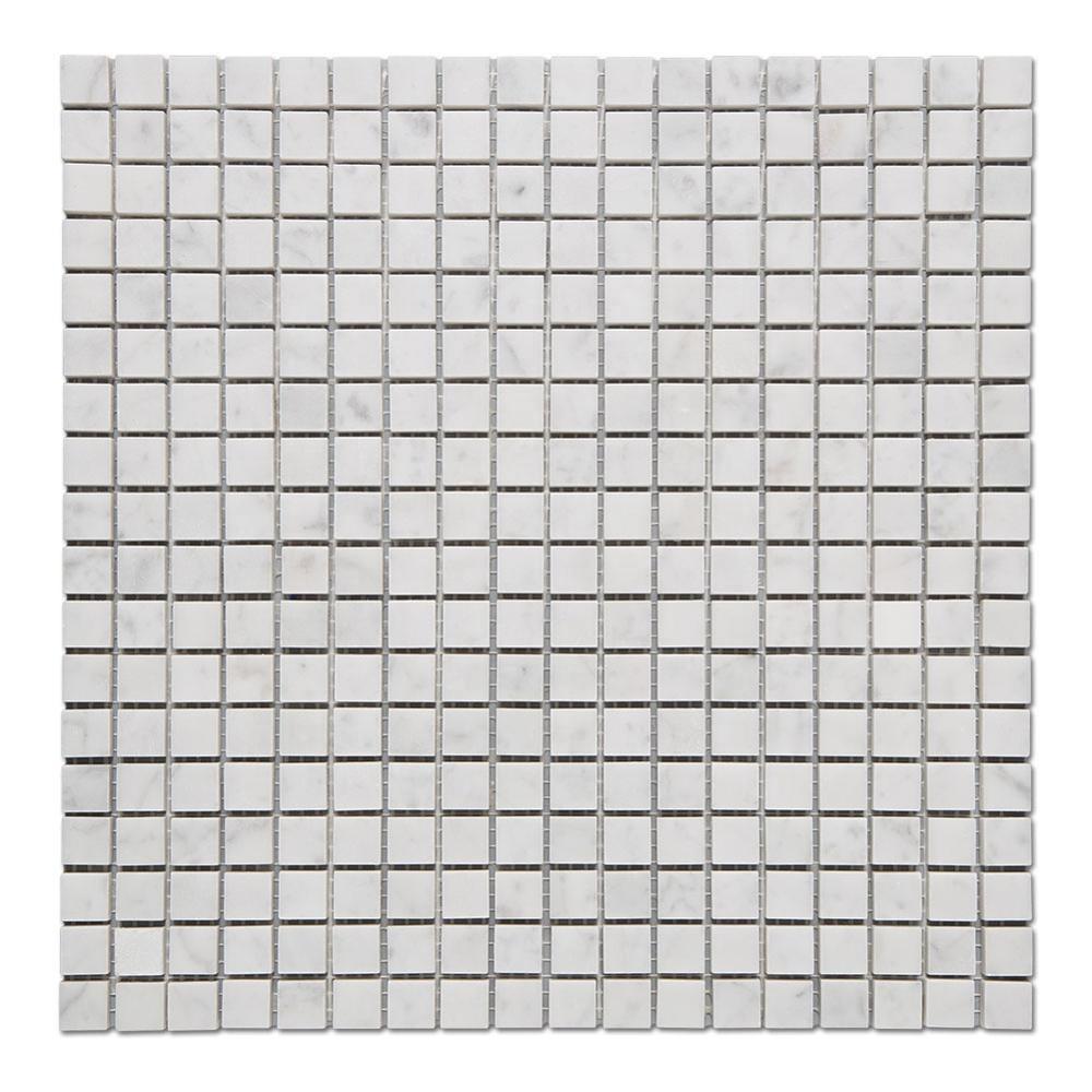 Soulscrafts Mosaic Tiles Mosaic Marble Bianco Carrara Mosaic Tile Featured Image