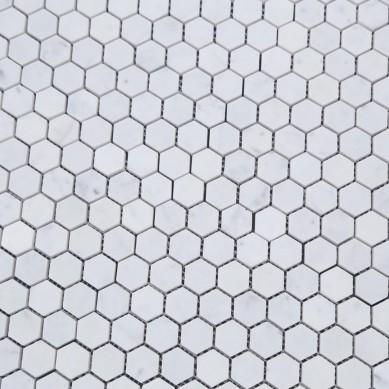 Italian Bianco Carrara Marble Mosaic Stone Carrara Marble Hexagon Tile