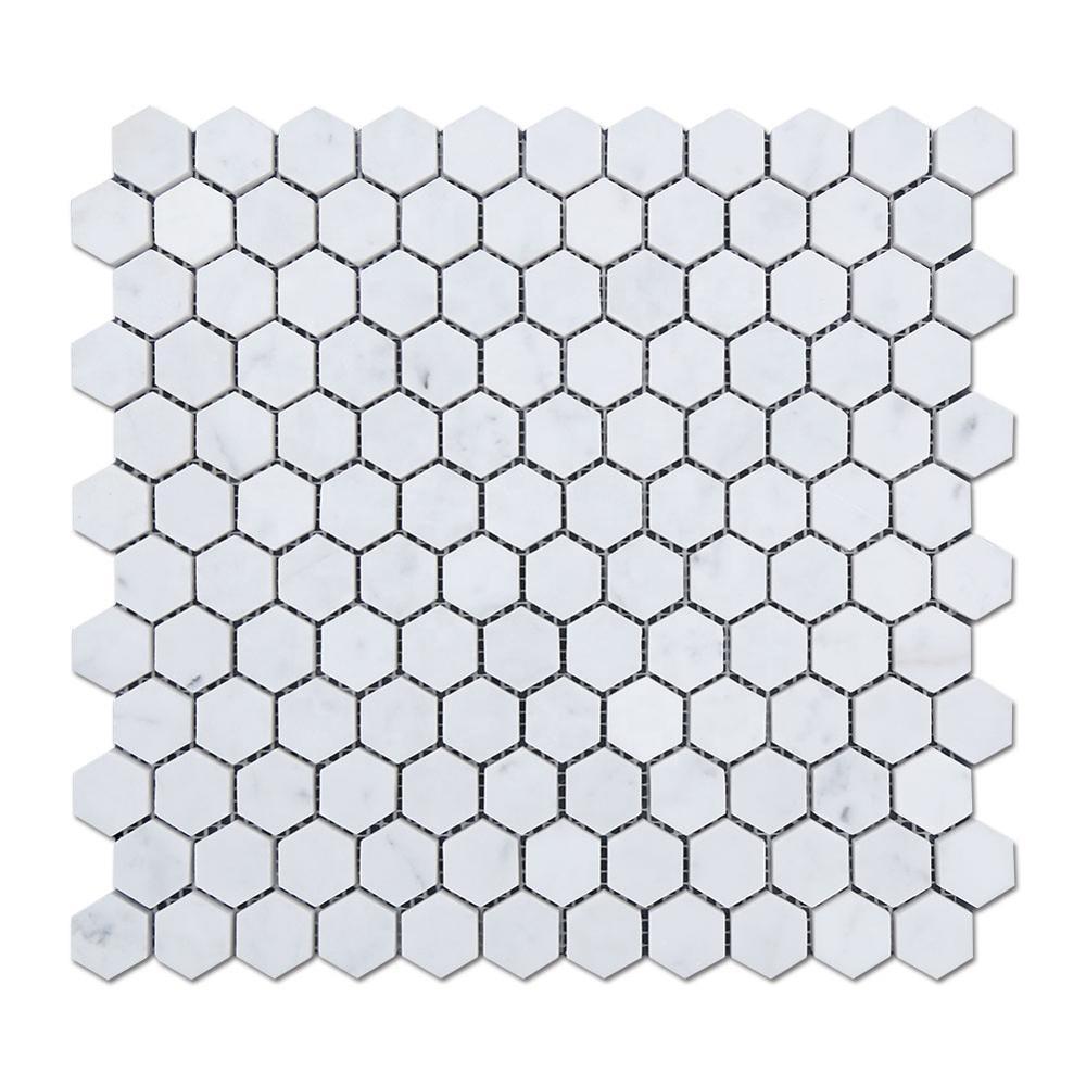Italian Bianco Carrara Marble Mosaic Stone Carrara Marble Hexagon Tile Featured Image