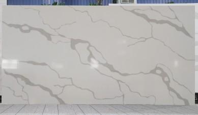 Shunstone Super Big 3500x2000mm of Calacata White Quartz Slab in 15mm 20mm 30mm
