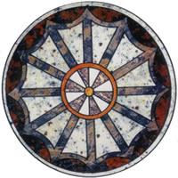 Round floor mosaic medallion,Elevator marble flooring design,Foyer medallion floor