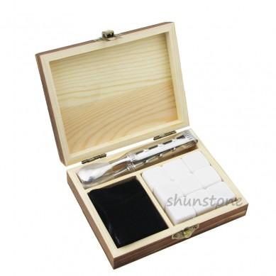 Set of 9pcs Wine cooler soapstone granite whiskey stone Customized Promotion Pine Wood Box