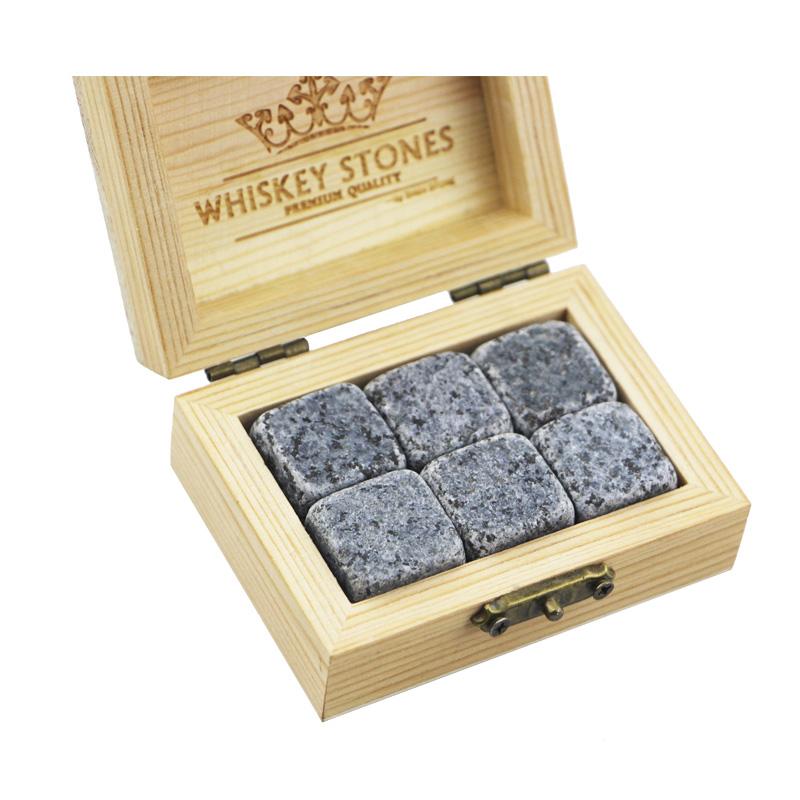 China Gold Supplier for Dice Whiskey Stones - 2019 Amazon Best Product Bar Tools Gift Item New 6 pcs of G654 Whiskey Rock Stone Cube Whisky Chilling Ice Cube Ice Stone Creative Gift Set – Shunstone
