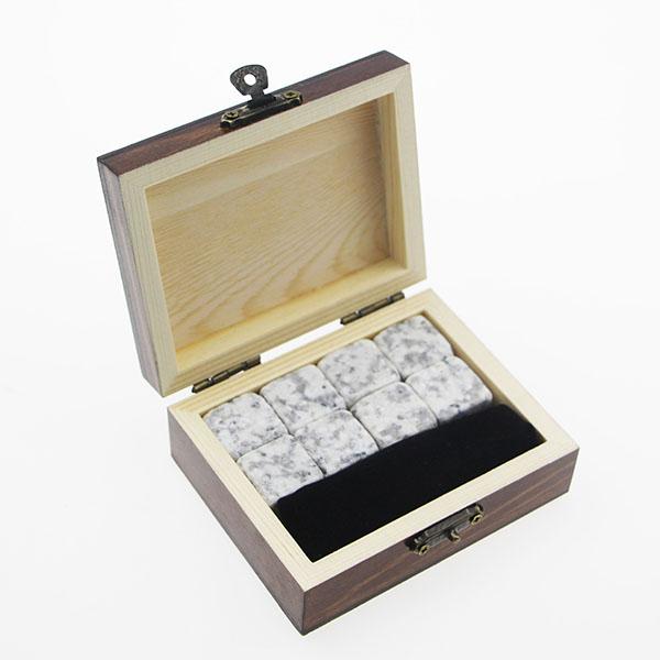 China Manufacturer for Wood Box - Premium 8pcs of Whiskey Natural Soapstone Ice Cube Whiskey Stone Bar Accessories Customized LOGO – Shunstone