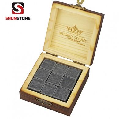 9 pcs of Premium Corporate Gift Set Whiskey Stone Rock Whiskey Glass Whiskey Stone and Custom Promotional Gift Set Wholesale Price Best