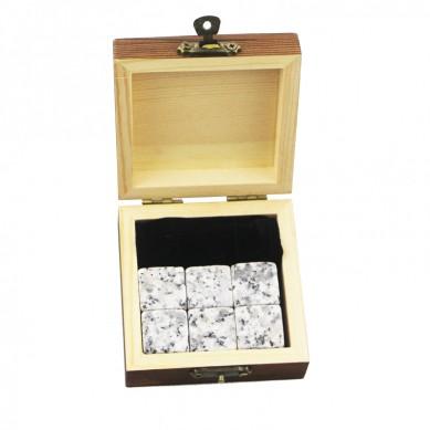 Wholesale Price China Whiskey Stone Set - Wholesales6pcs of G30 whiskey stone bushiness gift Whisky Ice Stones Drinks Cooler Cubes Natural Chilling Whisky Stones With Gift Box  – Shunstone