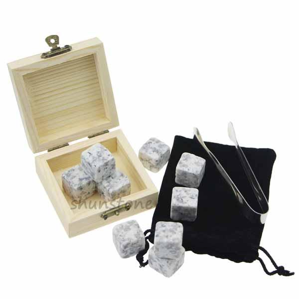 9 pcs of Wholesale whiskey stones granite whiskey stones Customized whiskey stones Featured Image