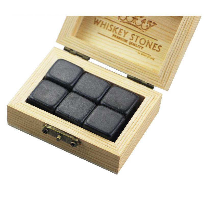 OEM Customized Whisky Ice Cube Stones - Popular product 6 pcs of polish Mongolia Black Stones Whiskey Chilling Rocks Customize Packaging Whiskey Stones Set of 6 Natural  Cubes – Shunstone
