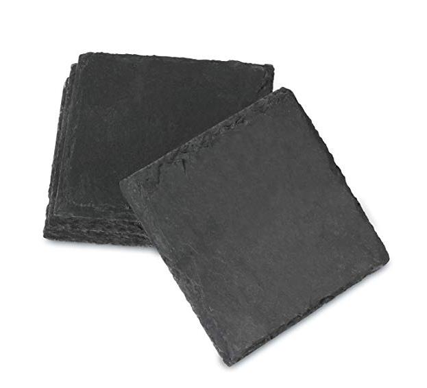 High Quality for Black Rocks - SHUNSTONE Amazon hot selling 4-Inch by 4-Inch Slate Coaster, Set of 4 – Shunstone