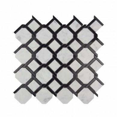 water jet stone tile white marble mosaic tile floor tile design